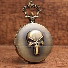 One Piece Skeleton Vintage Skull Pocket Watch