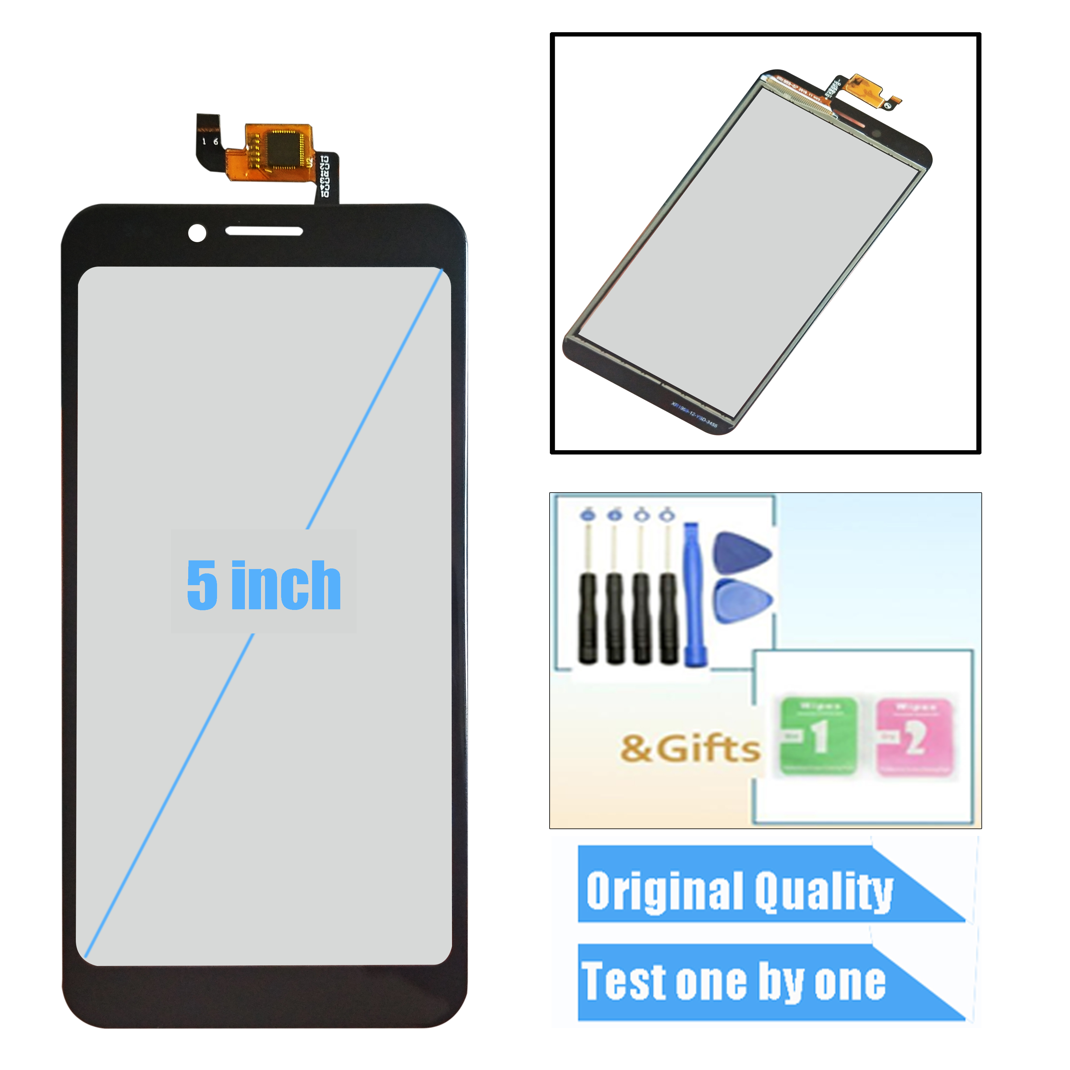 New 5.0inch For Senseit A150 Touch Screen Glass Sensor Panel Lens Glass Digitizer For Senseit A 150 Cell Phone
