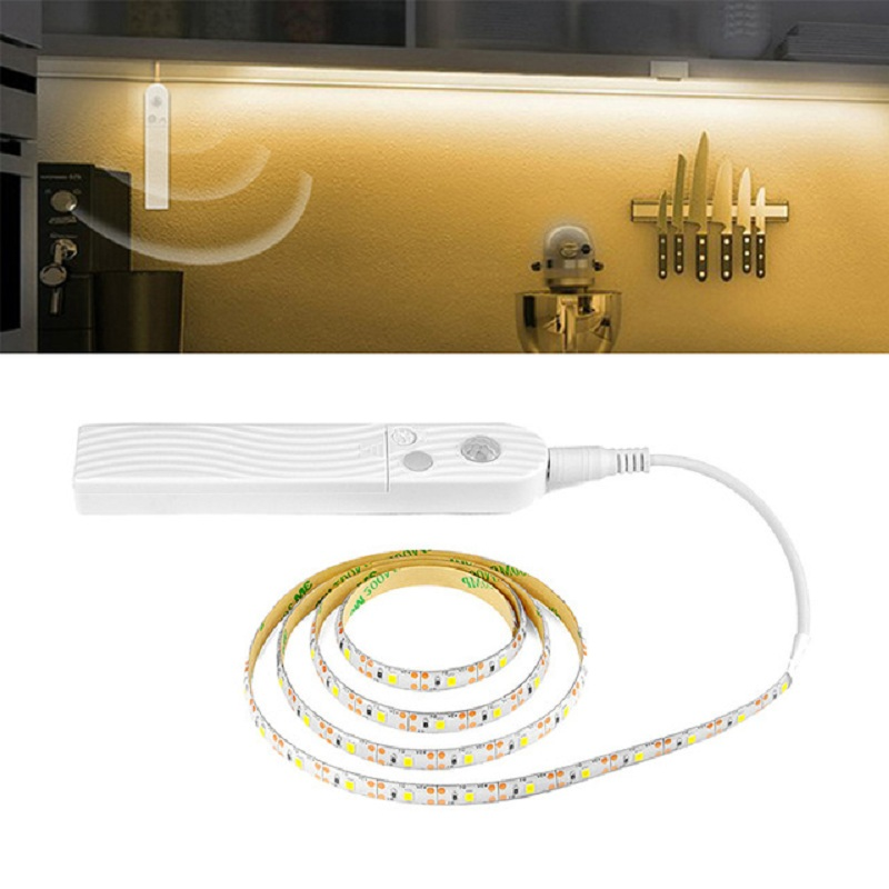 Motion Sensor LED Light 5V 1M 2M 3M Under Bed Cabinet Light Waterproof Closet Light Christmas Kitchen Home Decoration Lamp