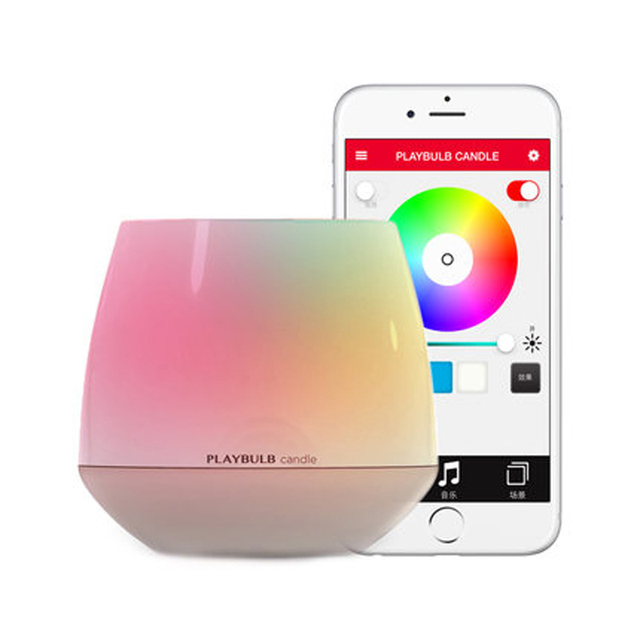 Promotion MIPOW PLAYBULB Smart Bluetooth LED Candle Light Creative Home Wireless Aromatherapy Nightlight with APP Control Color