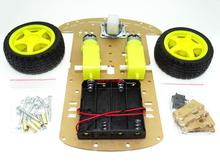 2set/sets 2WD Smart Robot Car Chassis Kit/Speed encoder Battery Box For Arduino 2 motor