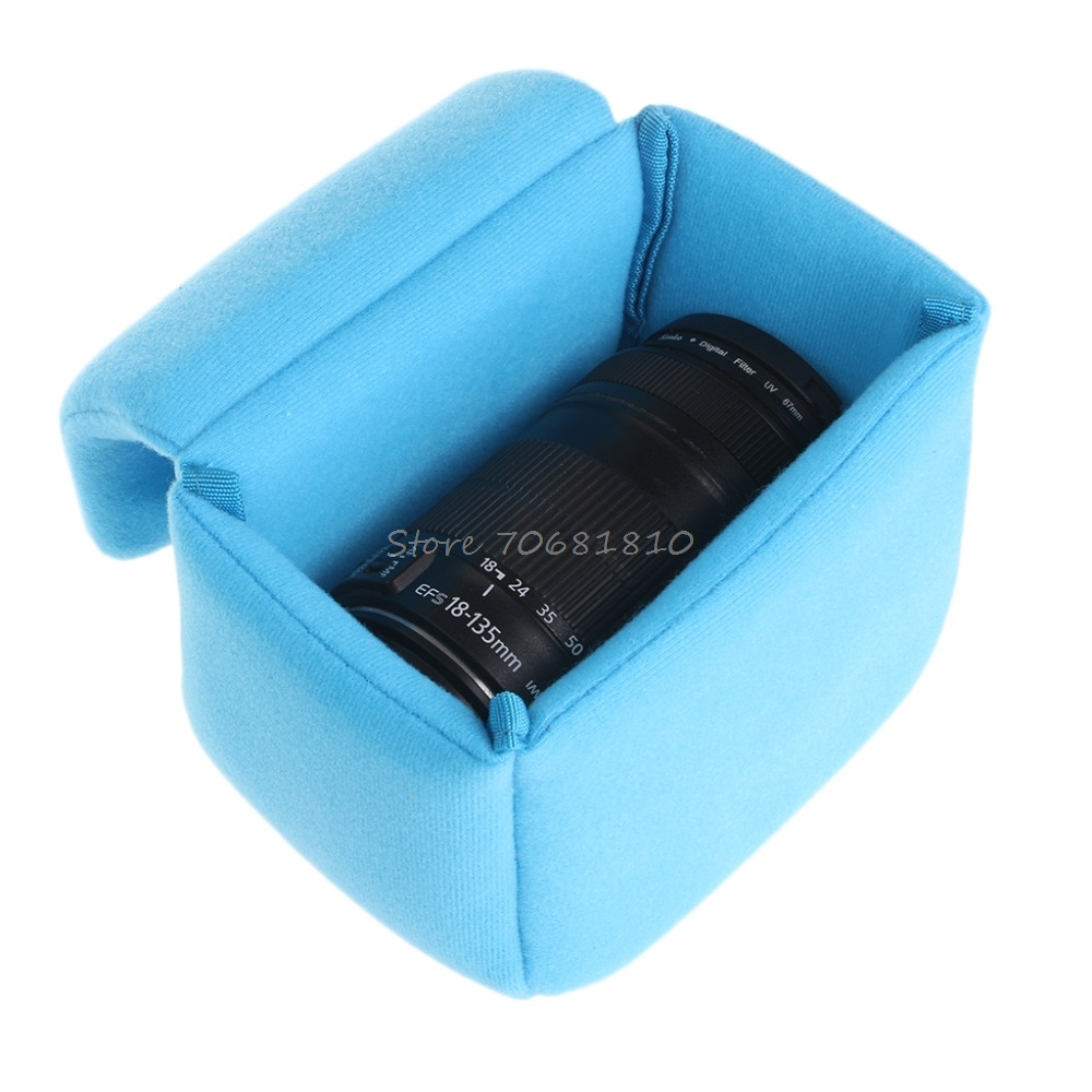 Shockproof Camera Lens Case Pouch Insert Cushion Partition Padded Bag For DSLR #4XFC#Drop Shipping