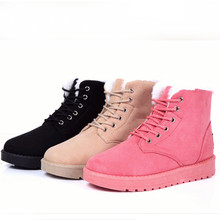 British Style Women's Snow Boots Fashion LANSHITINA Martin boots comfortable warmth thick soled boots New Hot Female Boots