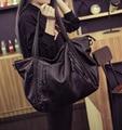 Bolsos Grandes de Las Mujeres de Cuero suave Bolso Cremallera Bolso de Hombro de La Muchacha Bolsos Hobos Nuevas Llegadas bolsa feminina 2016 de Totalizador de La Manera
