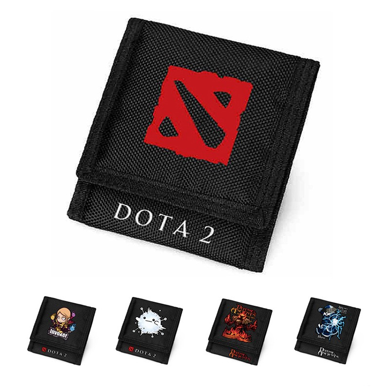 MeanCat Hot Online Game Dota 2 Wallet Cute Dota Characters Oxford Short Purse for Collection Dota Fans