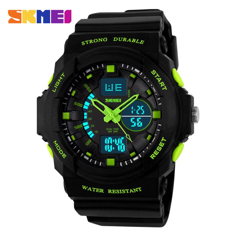 Prix pour Skmei numérique LED Display Sport montres pour hommes femmes enfants enfants Quartz Sport montre Relojes garçon multifonctionnel montres