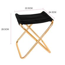 Outdoor Aluminum Folding Fishing Stool Chair Portable Mini Shrinkable Camping Beach Barbecue Chair 1 pc outdoor camping barbecue foldable stool beach fishing folding chair portable stainless steel plastic seat