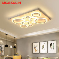 Dimming Remote Control Living Room Bedroom Modern Led Chandelier White Color Surface Mounted Led Chandelier Fixtures