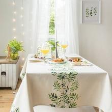 European style modern minimalist Nordic geometric pattern high-grade cotton linen table cloth rectangular thick tea