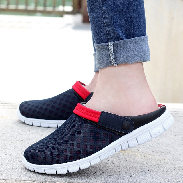 Men's Summer Shoes 2019 New Breathable Men Sneakers Mesh Lighted Casual Shoes Slip On Shoes