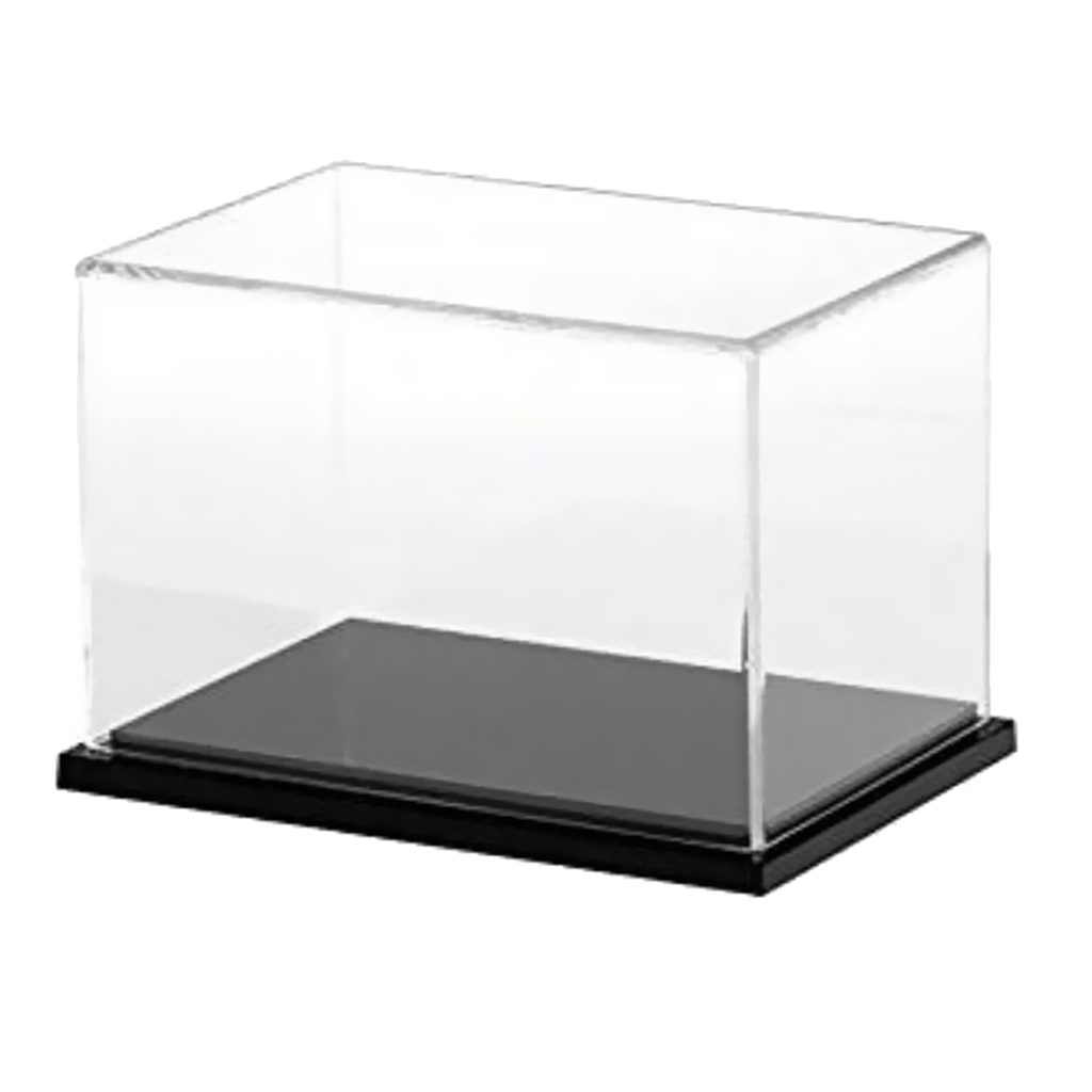 40x20x20cm Acrylic Display Case, Black Gloss Base Dustproof Assembled Box