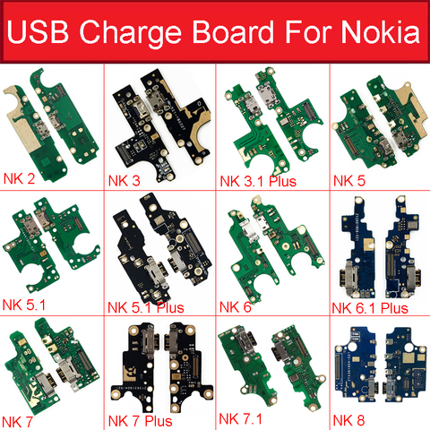 Charger USB Jack Board For Nokia 2 2.1 3 3.1 Plus 5 5.1 6 6.1 7 7.1 Plus 8 Charging USB Port Board Module Replacement Parts Pakistan