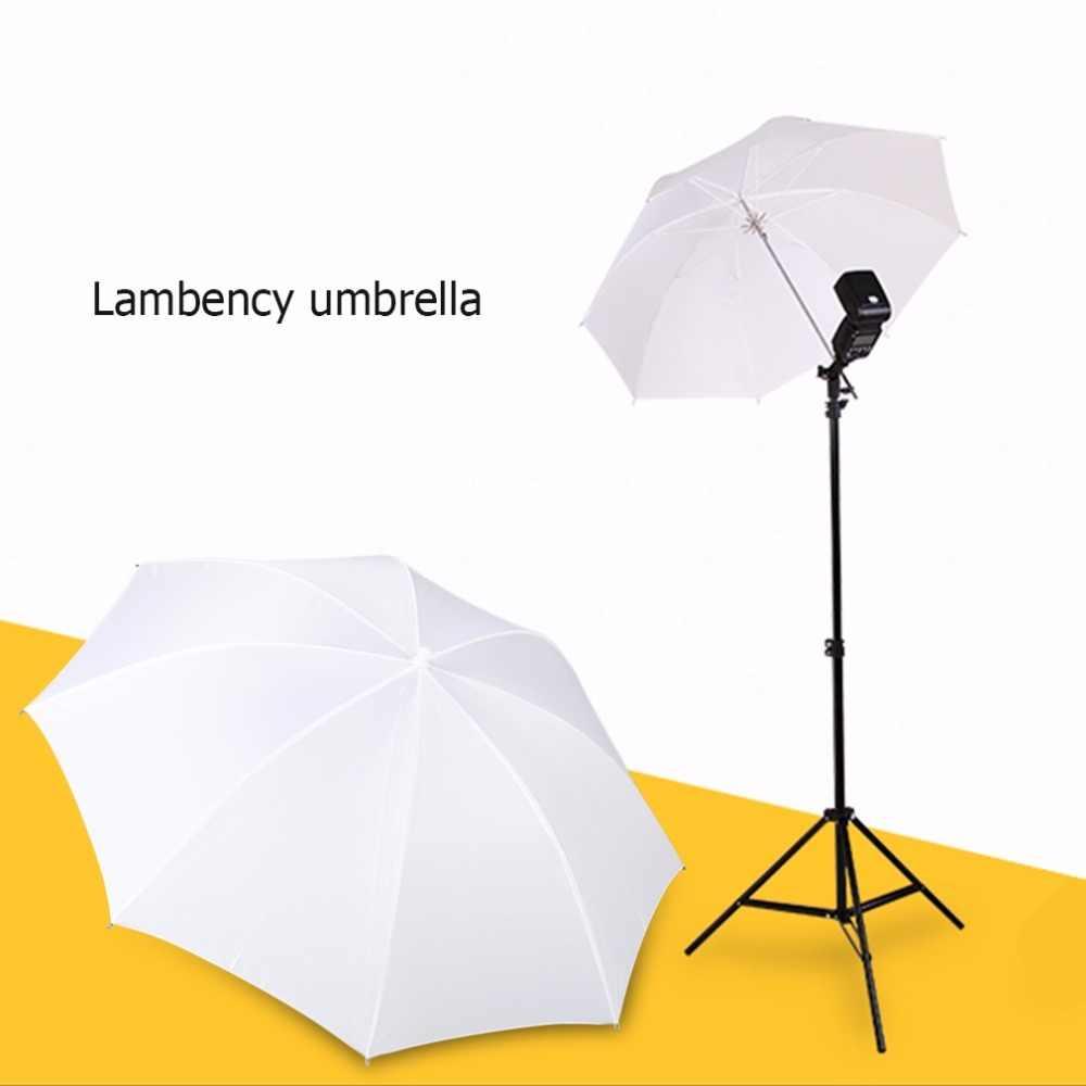 2018 أحدث 33in 83 سنتيمتر برو استوديو التصوير فلاش شفافة لينة لاممنت مظلة مادة النايلون الأبيض عمود من الألومنيوم