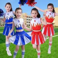 Children cheerleading apparel men and women gymnastics aerobics costumes cheerleading performance clothing