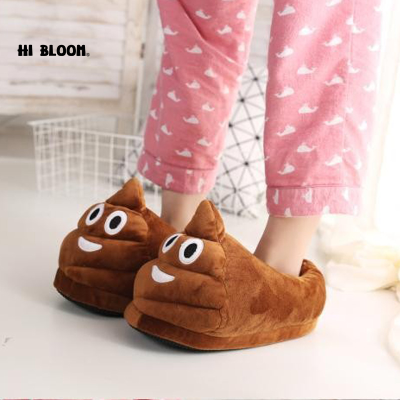 Sjove mænd vinter indendørs plys sko dejlige gave kvinder børn fyldte hus sko varme hus smiley emoticon tøfler
