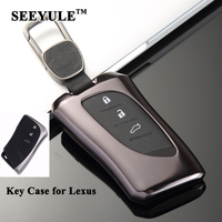 1pc SEEYULE Car Key Case Key Shell Cover Organizer Storage Bag Styling Car Accessories for Lexus ES300h LS500h LC500 LC500h 2018