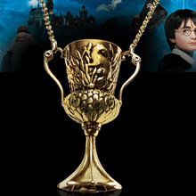 HARRY POTTER and The Goblet of Hearth Hufflepuff's Cup Pendant Horcrux Necklace