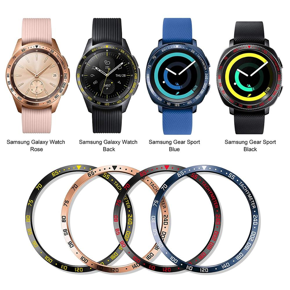 Stainless Steel Bezel Ring Samsung Galaxy Watch 42mm/Galaxy Gear Sport Anti Scratch Ring Protection Design For Galaxy Watch 42mm
