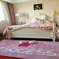 crown pink princess carpet mats simple bedroom girl porch custom handmade acrylic carpet mat children livingroom rug lovely girl