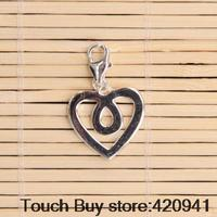 Thomas Style Infinity Heart Charm With Lobster Clasp Fit Necklaces Bracelet Silver Charm European Fashion Jewelry