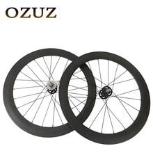 Track Fixed Gear Front 38mm Rear 50mm Depth Clincher Single Speed Carbon Track Wheels Road Bike