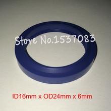Hydraulic ram oil seal wiper seal polyurethane PU o-ring o ring 16mm x 24mm x 4.5mm x 6mm o x