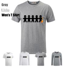 Cute Fashion Simple Style Funny 5 Burning Person Pattern Printed T Shirt Men s Boy s