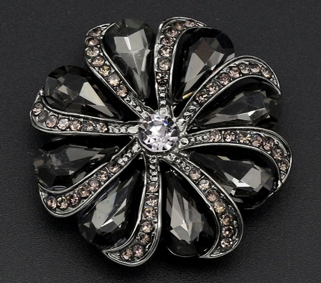 Wholesale 5 pieces New High grade metal Rhinestones rosette jacket Overcoat  Shirt Cotton coat Button size 30mm Free shipping-in Buttons from Home    Garden ... fe9992011bf4