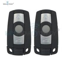 Remtekey 2PCS Remote 3 Buttons Car Key Shell Case Smart Blade Fob Case Cover For BMW 1 3 5 6 Series E90 E91 E92 E60 1 set wiper blades for bmw 5 series e60