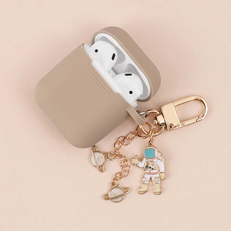Cosmic Astronaut Spaceman Protective Case for Airpods Case Accessories Bluetooth Silicone Earphone Cover Spaceman Key Ring