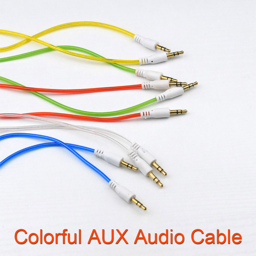 New Colorful Car Aux Cable 3 5mm to 3 5mm Jack Audio Cable Male to Male