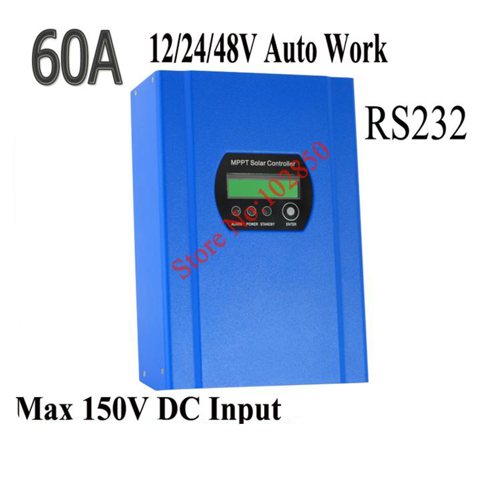 60a Mppt Solar Charger Controller12 24 48v Auto Workmax Battery Circuit Besides Charge Controller Input 150vupto 99 Efficiencyrs232communication In Controllers From Home Improvement