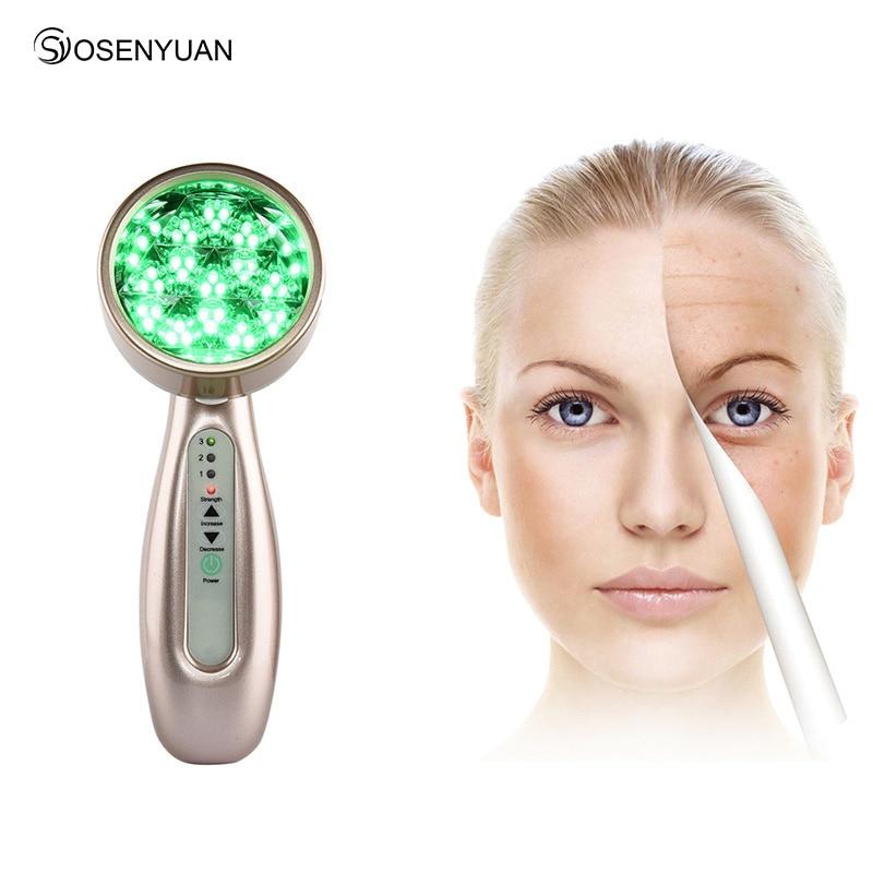 купить Spa Ultrasonic Face Bio Light LED Photon Skin Rejuvenation Facial Beauty Device Rechargeable Firming Beauty Machine по цене 2457.43 рублей