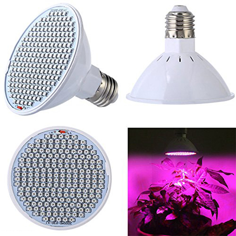72/200 Leds Full Spectrum LED Grow Light Bulbs LED Lamp For Seeds Hydro Flower Greenhouse Veg Indoor Garden Hydroponics E27 220V