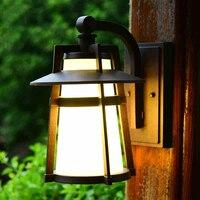 유럽 야외 벽 램프 정원 발코니 sconce 빛 미국 레트로 방수 마당 조명