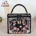 Роскошный дизайн одежды высокого качества цвет алмаз замши PU женщин сумка lock box сумка щитка сумка 4 цвета
