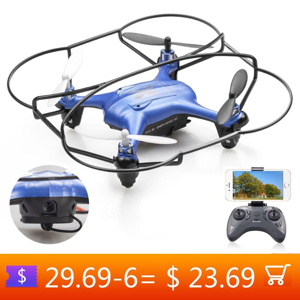 ATOYX Cámara Drone con cámara HD 4 k Mini Drone RC Quadcopter FVP WIFI con HD de gran angular de alta sin cabeza de altitud modo