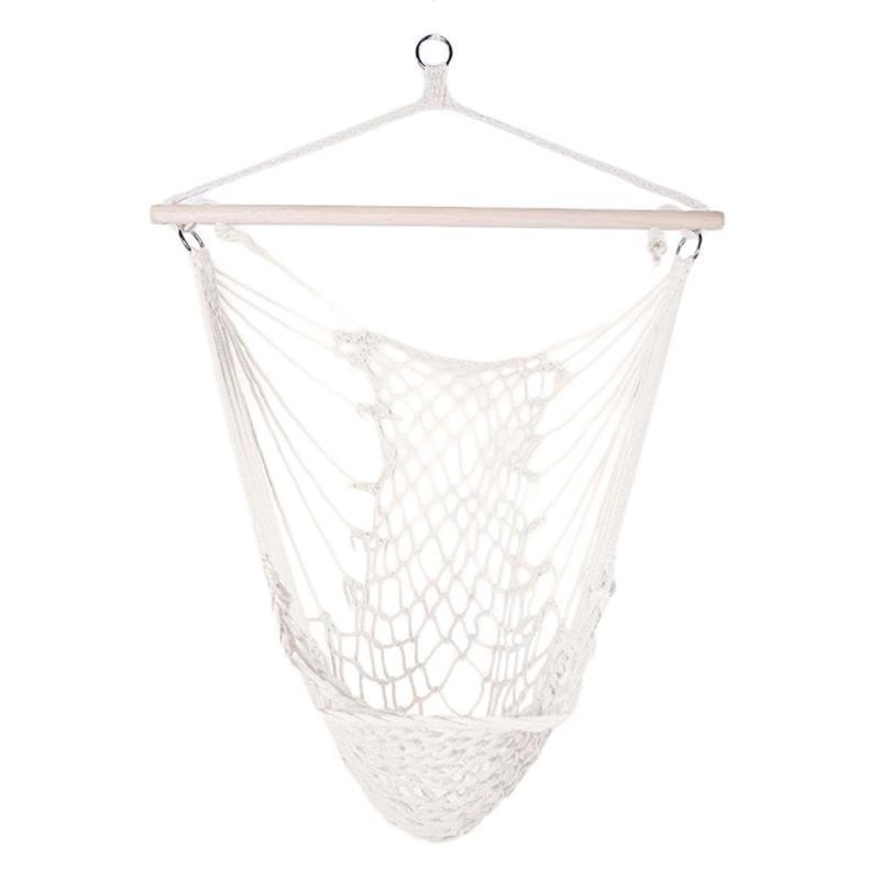 Corde de coton hamac Net balançoire chaises suspendues enfants adultes berceaux extérieurs