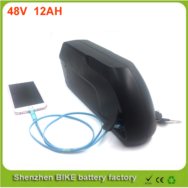 Tigershark  Electric Bike Battery 48v 12ah li ion battery with Samsung 18650 cells for Bafang 8fun 48v 750w 1000w ebike moto 48v 34ah triangle lithium battery 48v ebike battery 48v 1000w li ion battery pack for electric bicycle for lg 18650 cell