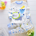 0-2 Y meninas dos meninos roupa do bebê terno dos esportes casuais para 2017 primavera outono roupa do bebê recém-nascido de algodão marca de impressão 2 conjuntos