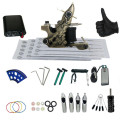 Complete Tattoo Kit 1 Pro Machine Guns Power Supply Foot Pedal Needles Grips Tips Tattoo Machine Set Accessories For Beginners