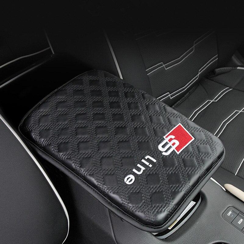 1X Accessoires De Voiture Accoudoirs Pad Couvre Logo Pour Audi A3 A4 B6 B8 A6 C5 C6 90 B5 B7 A5 a7 Q5 C7 TT 8 p 8L C7 8 v V8 A1 S3 Q3 100 80