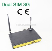 Free transport help VPN F3432 3G WCDMA twin card router with sim card slot for Substation