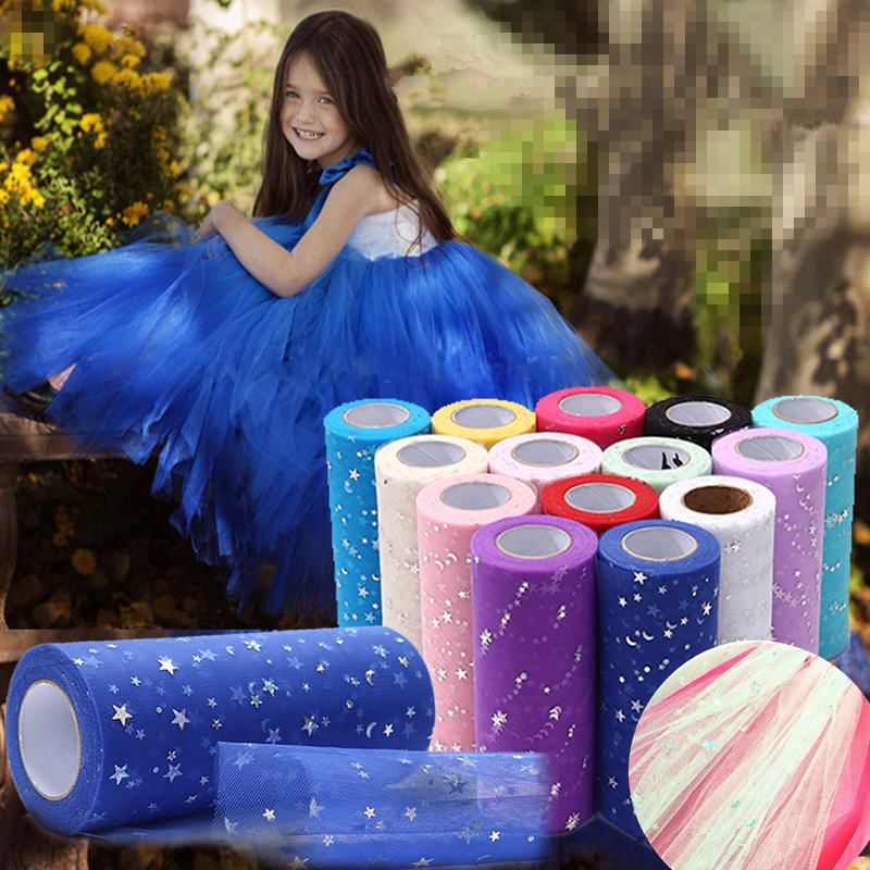 Hot Sale New Year Wedding Decoration Glitter Organza Tulle Roll 15cm