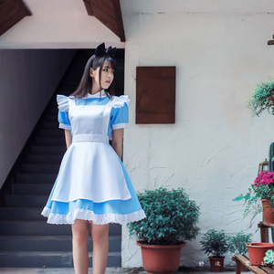 Image 3 - VEVEFHUANG Game Wonderland Party Cosplay Alice Costume Anime Sissy Maid Uniform Sweet Lolita Dress Halloween Costumes For Women