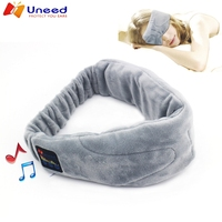 2pieces Wireless Wtereo Bluetooth Earphone Sleep Mask Phone Headband Sleep Soft Earphones For Sleeping Eye Mask