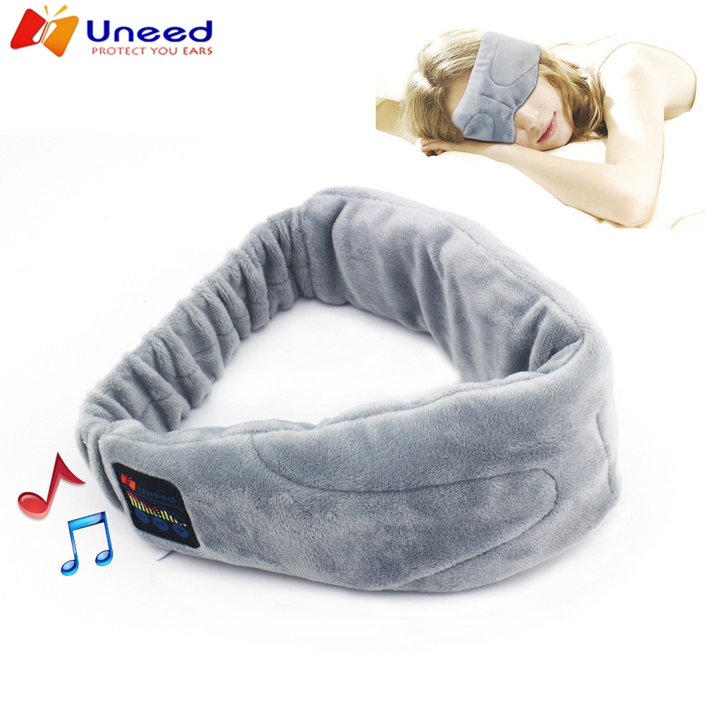 Wireless Stereo Bluetooth Earphone Sleep Mask Phone Headband Sleep Soft Earphones for Sleeping Eye Mask Music Headset 2016 noise cancelling wireless sleep headphones stereo 2 4ghz bluetooth headset for listenting music answering phone eye mask