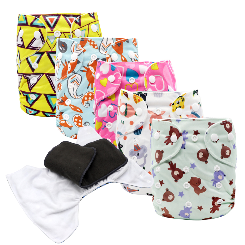MABOJ Cloth Diaper Pocket Reusable Nappies Washable Diapers One Size Baby Nappy For 6-38lbs/3-17kg Babies Wholesale Dropshipping
