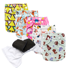 MABOJ Cloth Diaper Pocket Reusable Nappies Washable Diapers One Size Baby Nappy for 6-38lbs/3-17kg Babies Wholesale Dropshipping [mumsbest] big size children cloth nappies with microfiber insert child pocket diaper reusable cloth diapers for 2 6 years old