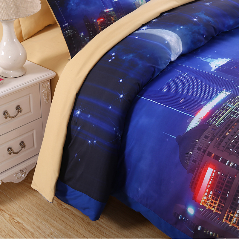 gecə göyü Hipster Galaxy 3D Yataq dəsti Çap Cəsarət örtüyü - Ev tekstil - Fotoqrafiya 3